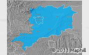 Political 3D Map of Vas, desaturated