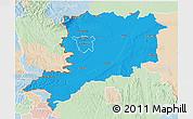 Political 3D Map of Vas, lighten