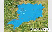 Political 3D Map of Vas, satellite outside