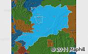 Political Map of Vas, darken