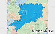 Political Map of Vas, lighten