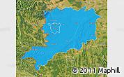 Political Map of Vas, satellite outside