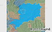 Political Map of Vas, semi-desaturated