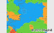 Political Simple Map of Vas