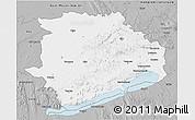 Gray 3D Map of Veszprém