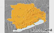Political 3D Map of Veszprém, desaturated