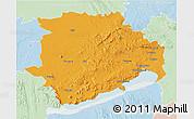 Political 3D Map of Veszprém, lighten