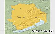 Savanna Style 3D Map of Veszprém