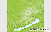 Physical Map of Veszprém