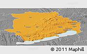 Political Panoramic Map of Veszprém, desaturated