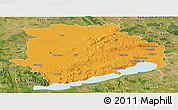 Political Panoramic Map of Veszprém, satellite outside