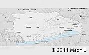 Silver Style Panoramic Map of Veszprém