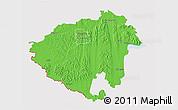 Political 3D Map of Zala, cropped outside