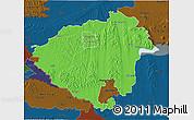 Political 3D Map of Zala, darken