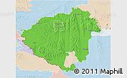 Political 3D Map of Zala, lighten