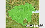 Political 3D Map of Zala, satellite outside