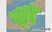Political 3D Map of Zala, semi-desaturated