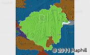 Political Map of Zala, darken