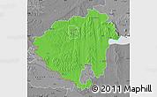 Political Map of Zala, desaturated