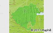 Political Map of Zala, physical outside