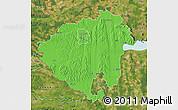 Political Map of Zala, satellite outside