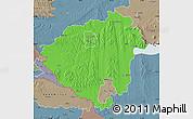 Political Map of Zala, semi-desaturated