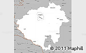 Gray Simple Map of Zala