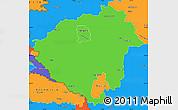 Political Simple Map of Zala