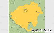 Savanna Style Simple Map of Zala