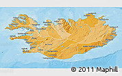 Political Shades 3D Map of Iceland