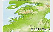 Physical 3D Map of Kjósar