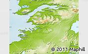 Physical Map of Kjósar