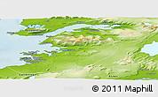 Physical Panoramic Map of Kjósar