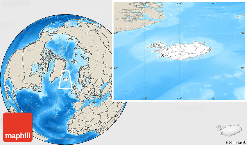 Blank location map of iceland shaded relief outside gumiabroncs Choice Image