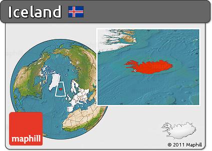 Free satellite location map of iceland highlighted continent highlighted continent satellite location map of iceland highlighted continent gumiabroncs Choice Image