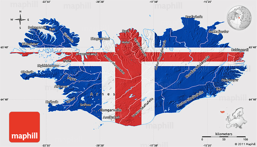 Flag map of iceland flag rotated 2d gumiabroncs Gallery
