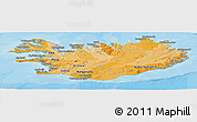 Political Shades Panoramic Map of Iceland