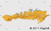 Political Map of Snafellsnes- og Hnappadals, cropped outside