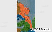 Political Map of Stranda, darken