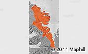 Political Map of Stranda, desaturated