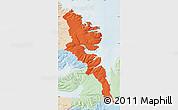Political Map of Stranda, lighten