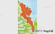 Political Map of Stranda, physical outside