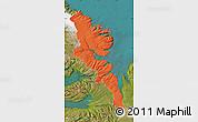 Political Map of Stranda, satellite outside