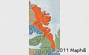 Political Map of Stranda, semi-desaturated