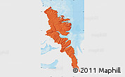Political Map of Stranda, single color outside