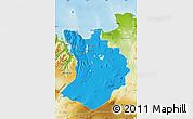 Political Map of Sudur-Tingeyjarsýsla, physical outside