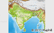 Physical 3D Map of India