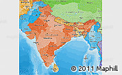 Political Shades 3D Map of India