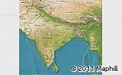 Satellite 3D Map of India