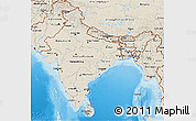 Shaded Relief 3D Map of India
